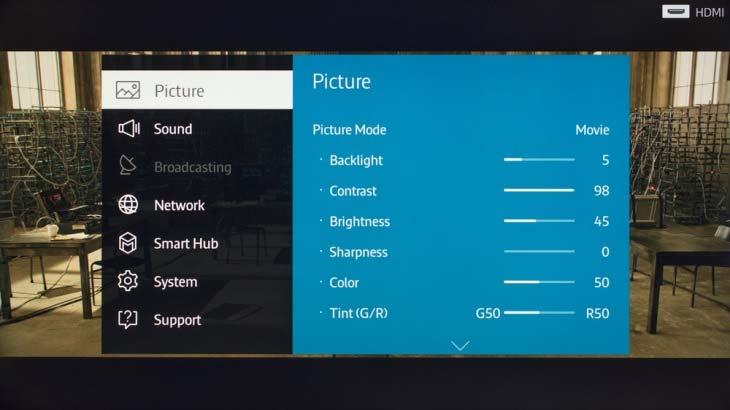 Sửa tivi bị tối màn hình- Tivi SAMSUNG bị tối màn hình
